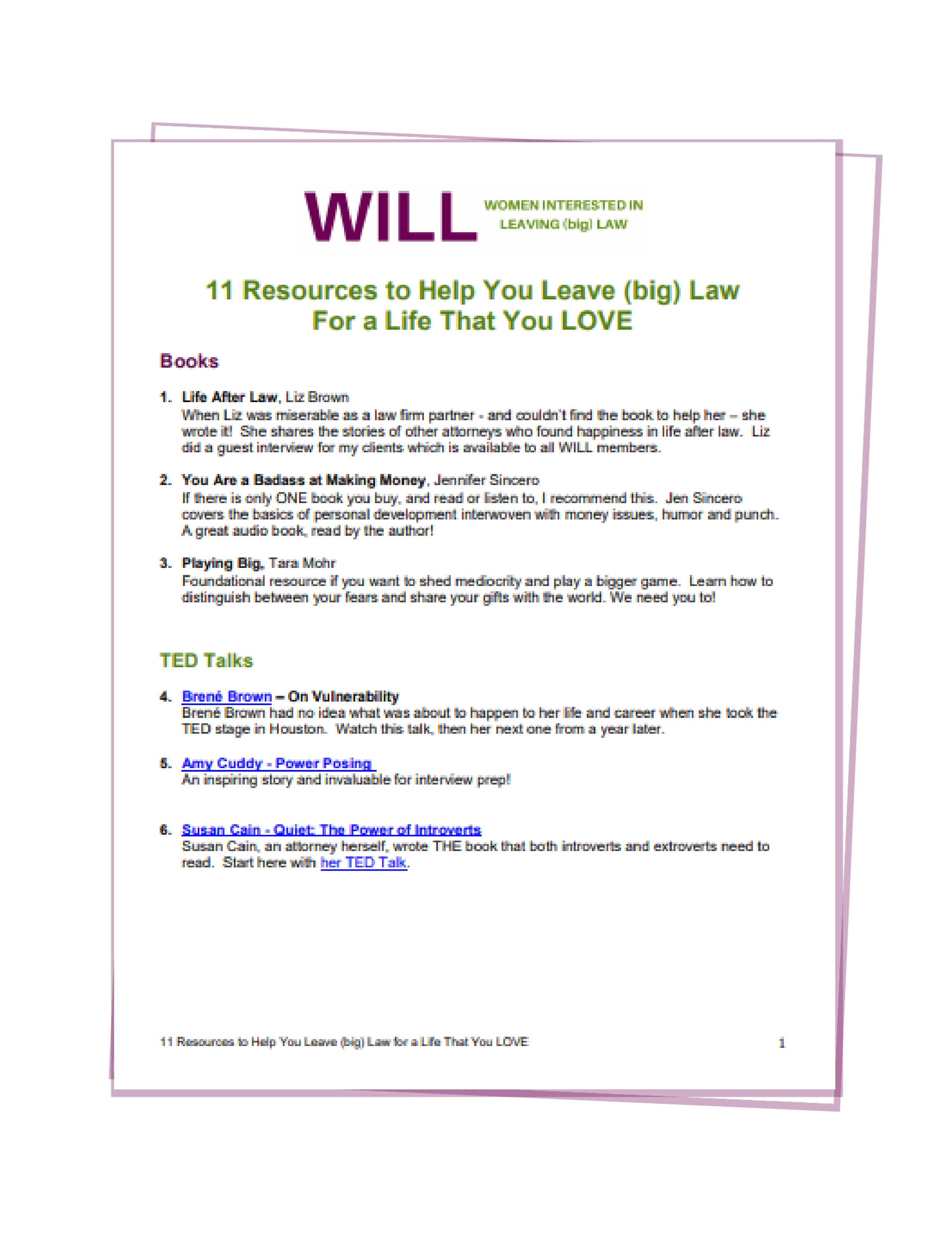 Home - Women interested in leaving law